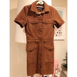 CURRENT ELLIOT AUTHENTIC SUEDE DRESS. Worn once !